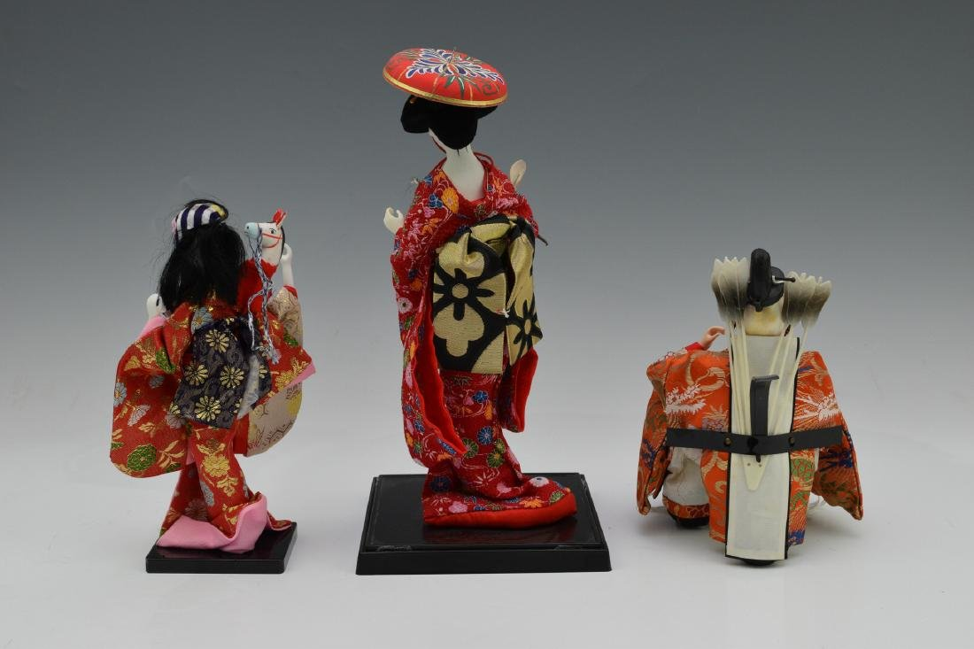 2 Japanese Dolls & Korean Doll of Emperor - 2