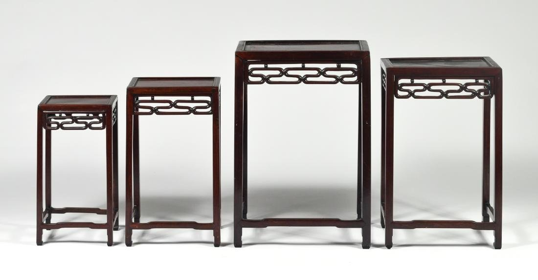 Set of 4 Wooden Nesting Tables