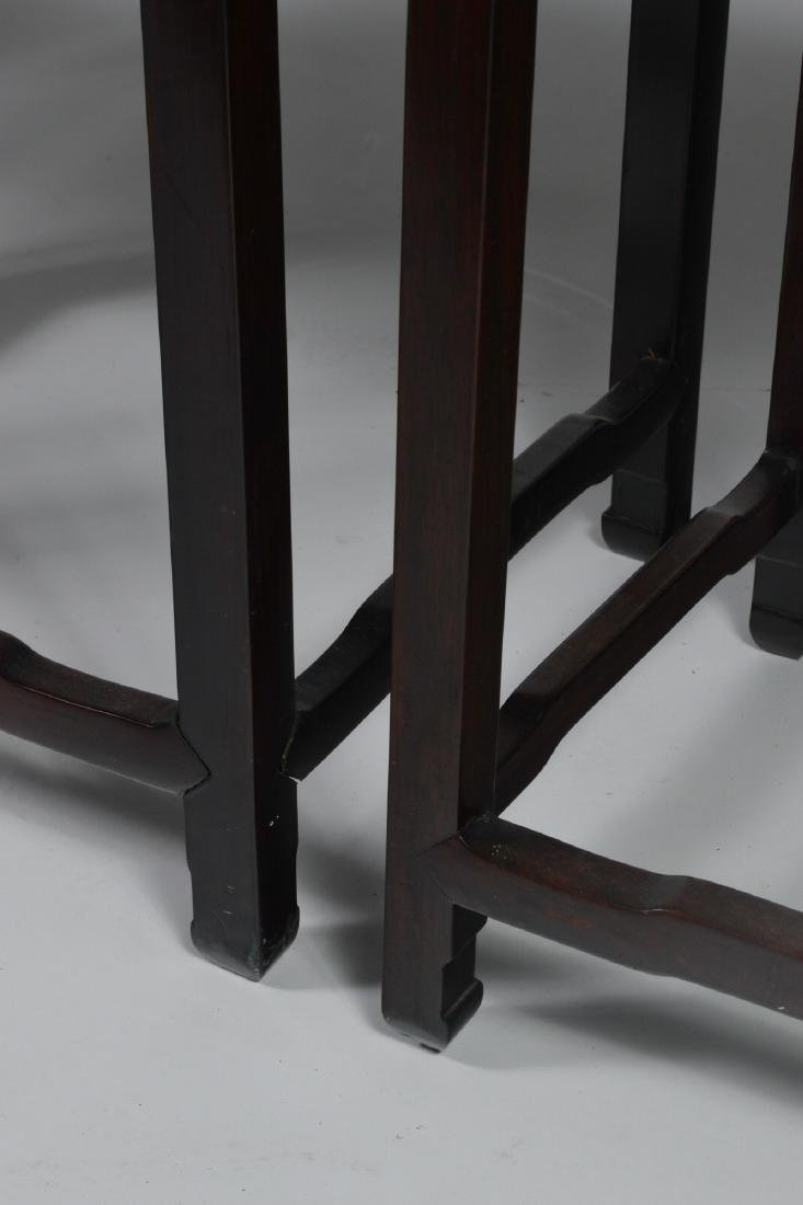 Set of 4 Wooden Nesting Tables - 3