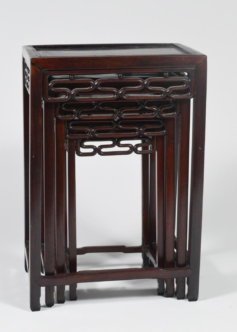 Set of 4 Wooden Nesting Tables - 5