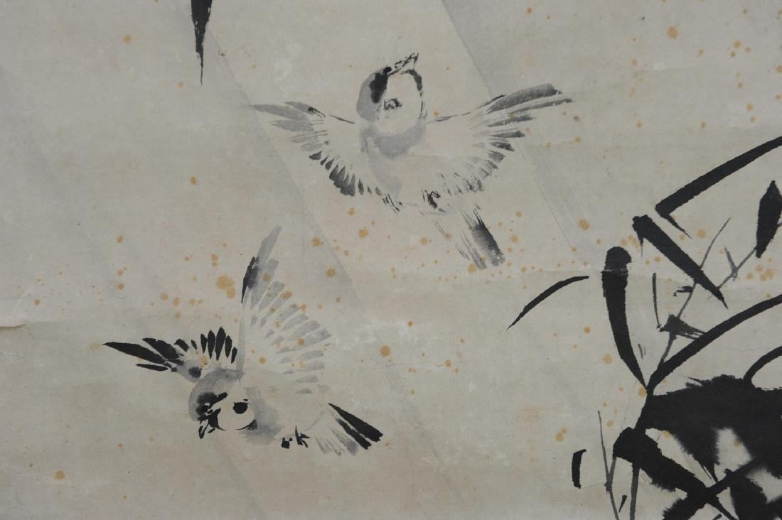Japanese Ink on Paper Painting of Birds - 3