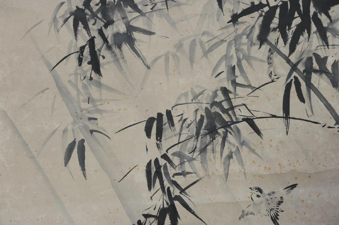 Japanese Ink on Paper Painting of Birds - 4
