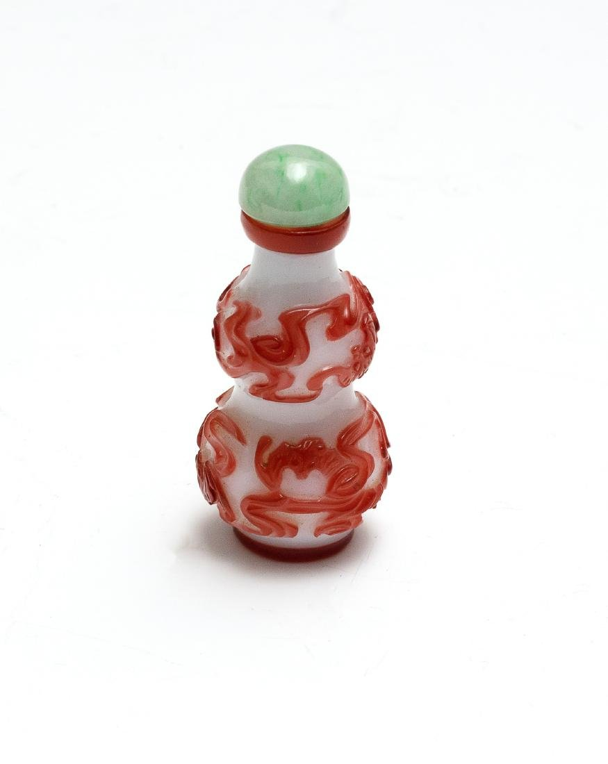 Peking Glass Hulu Shaped Snuff Bottle, 18th Century