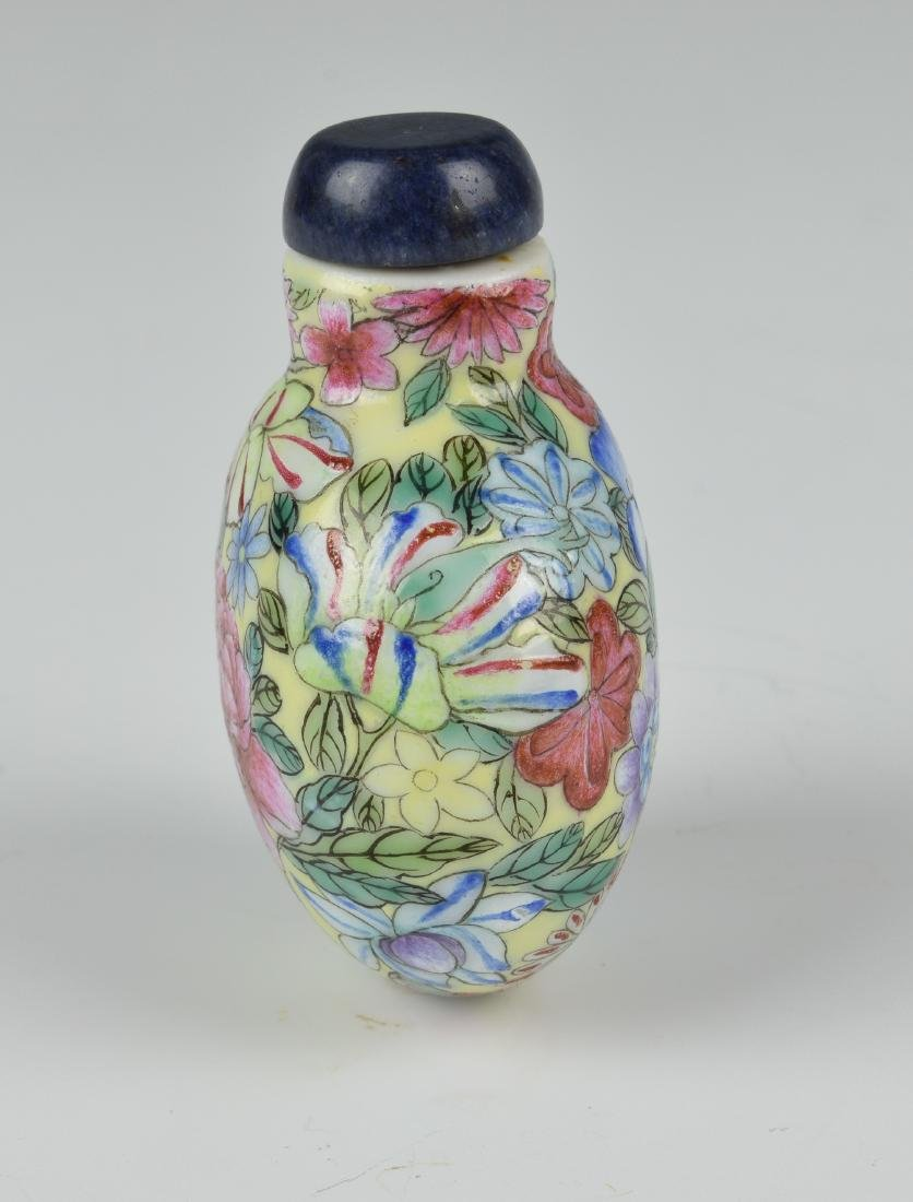 Chinese Millefleur Snuff Bottle, 19th Century - 2