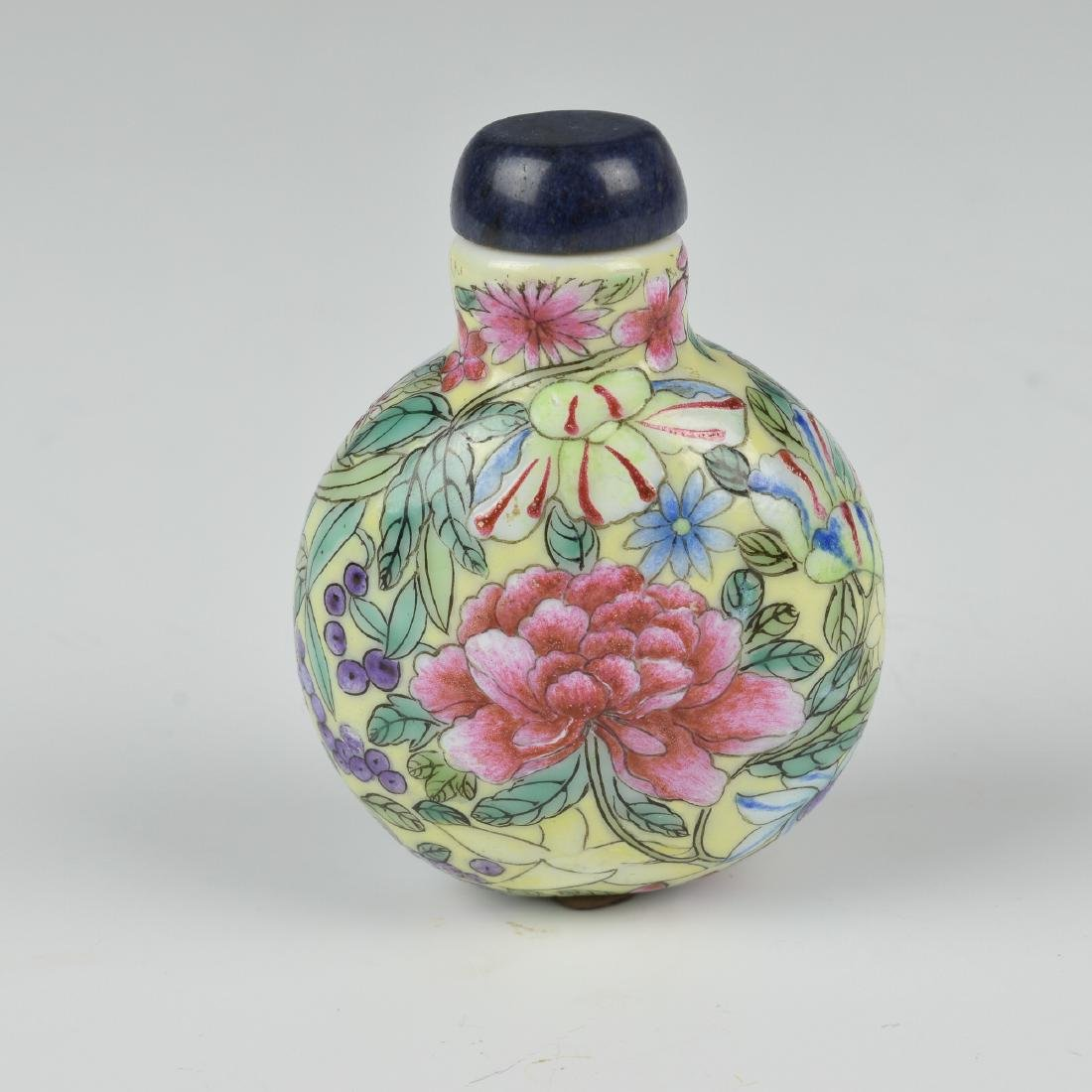 Chinese Millefleur Snuff Bottle, 19th Century - 3