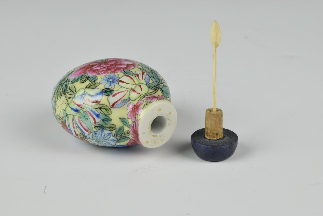 Chinese Millefleur Snuff Bottle, 19th Century - 6