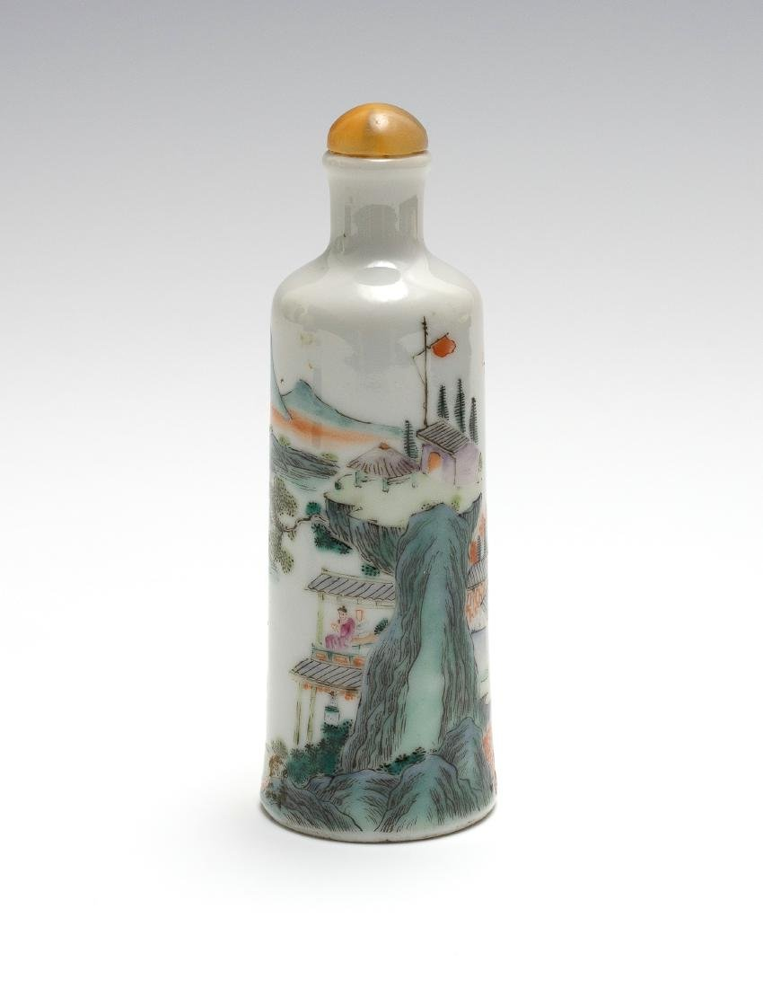 Chinese Famille Rose Snuff Bottle, Daoguang Period