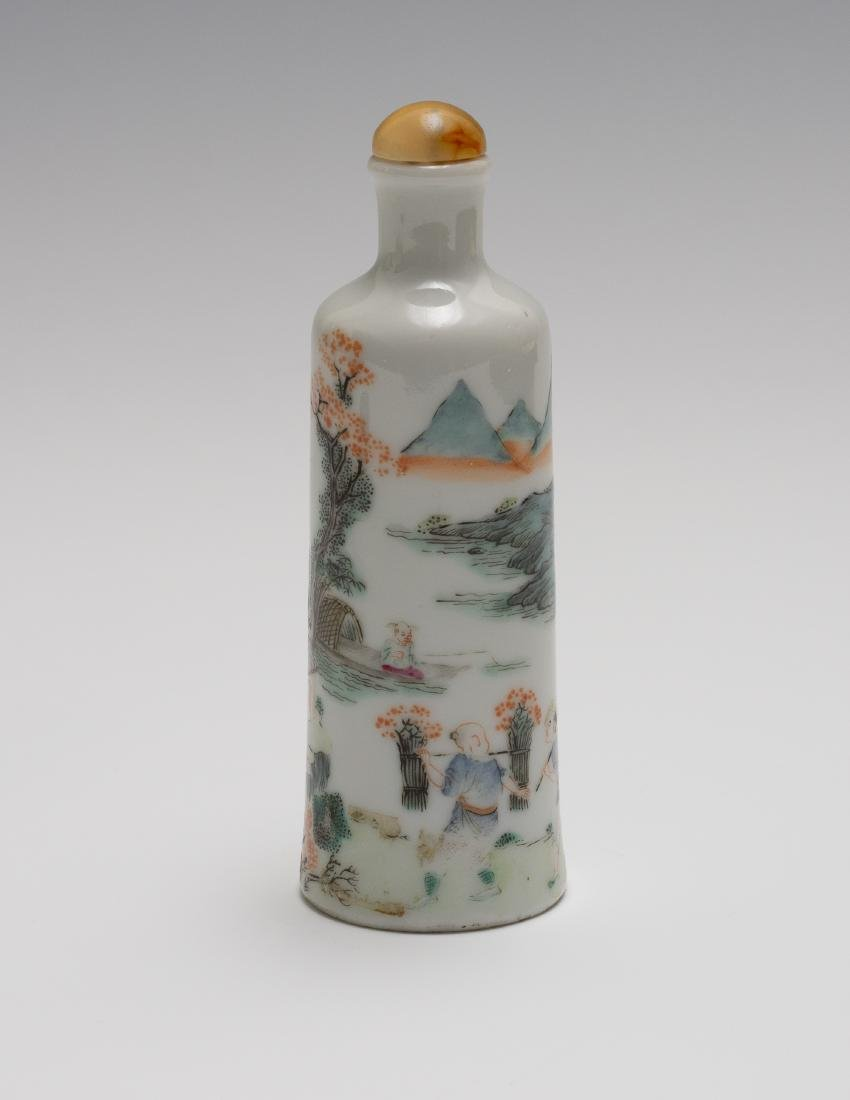 Chinese Famille Rose Snuff Bottle, Daoguang Period - 3