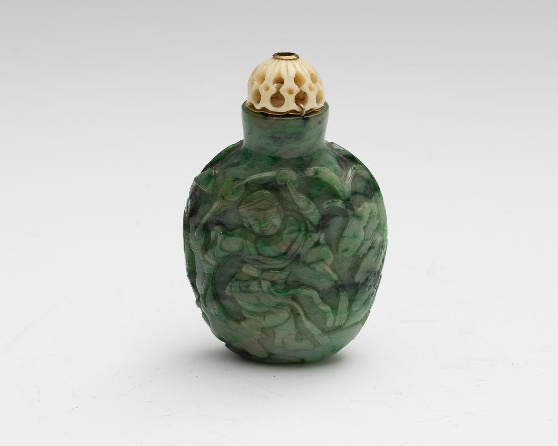 Chinese Jadeite Snuff Bottle, 19th Century