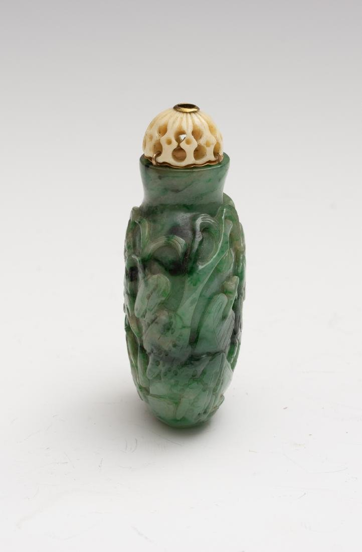 Chinese Jadeite Snuff Bottle, 19th Century - 4
