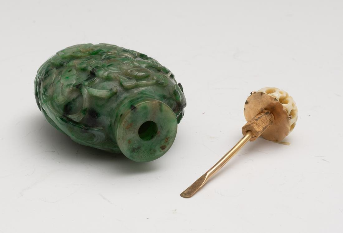 Chinese Jadeite Snuff Bottle, 19th Century - 6