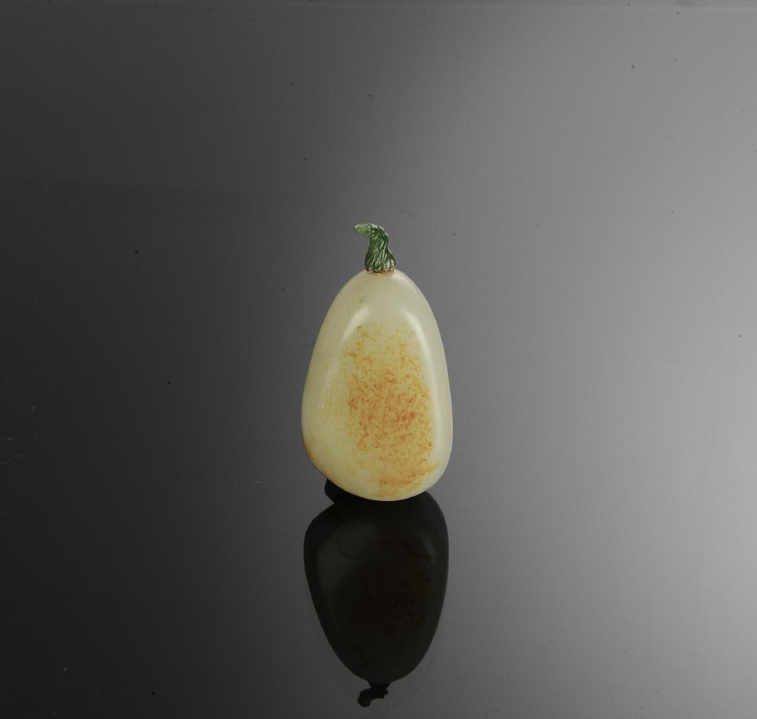 Chinese Hetian White Jade Snuff Bottle, 18th Century - 2