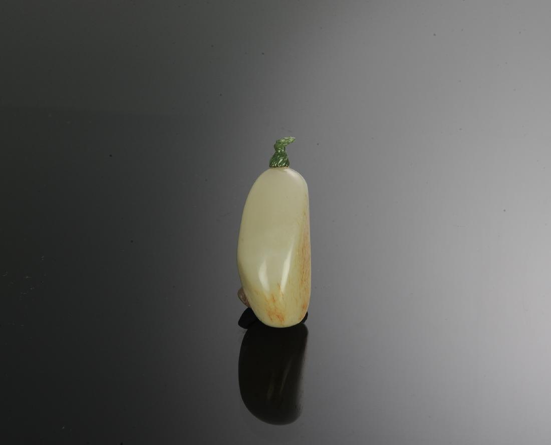 Chinese Hetian White Jade Snuff Bottle, 18th Century - 3