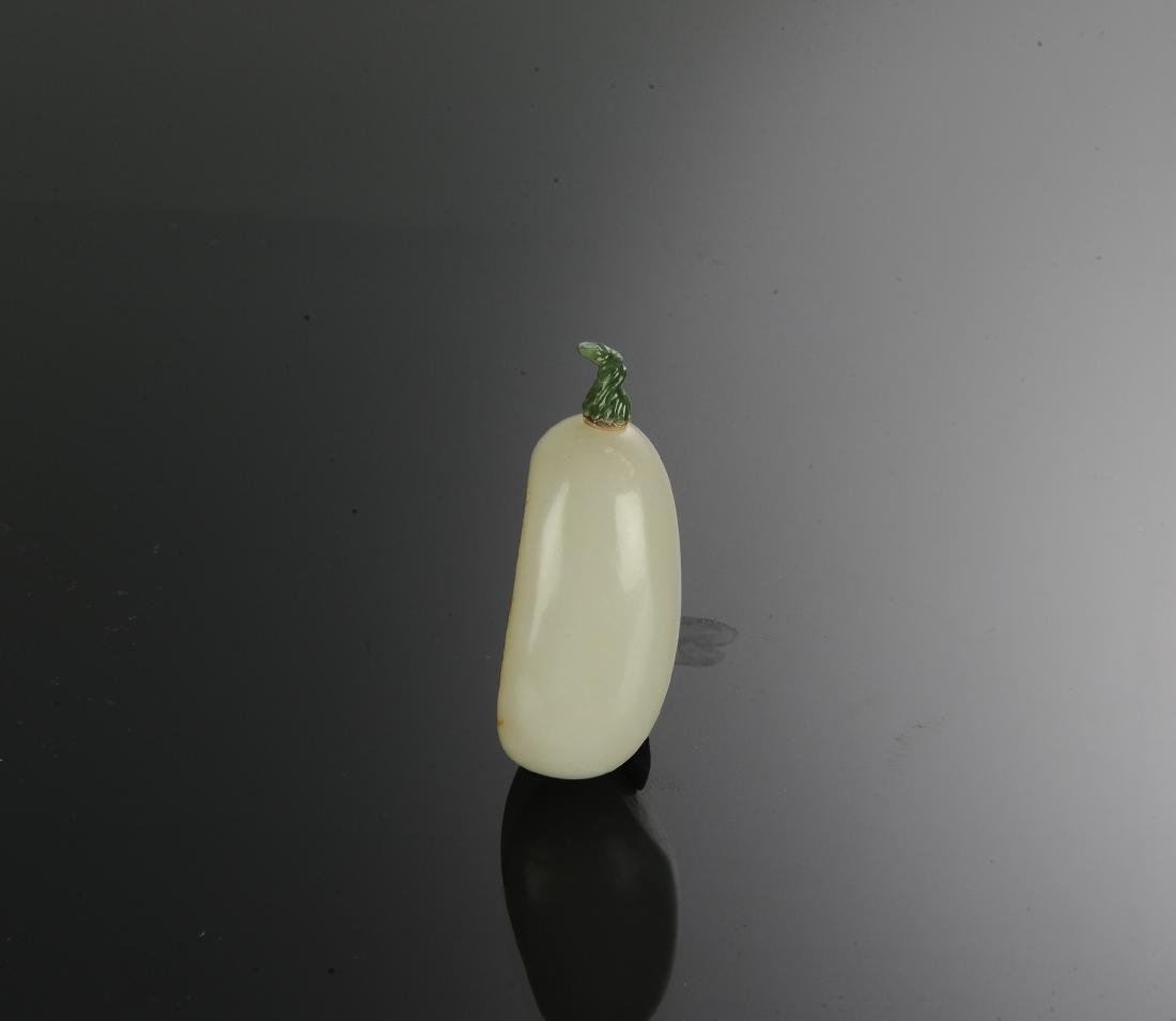 Chinese Hetian White Jade Snuff Bottle, 18th Century - 4