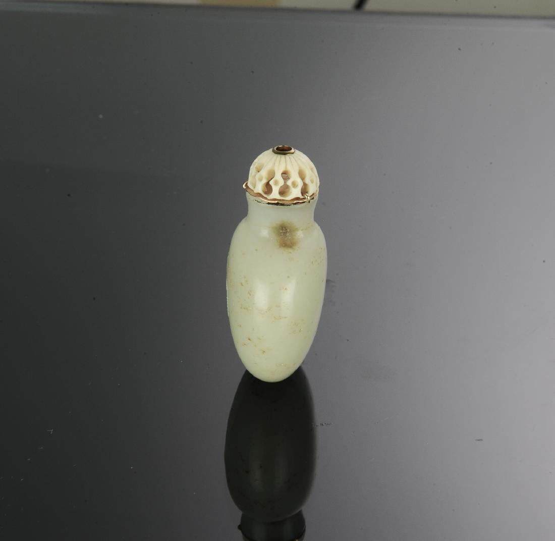 Chinese White Jade Snuff Bottle, 18th-19th Century - 4