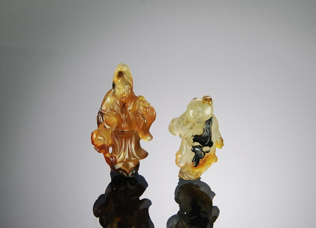 Two Chinese Agate Carvings, 17th-18th Century