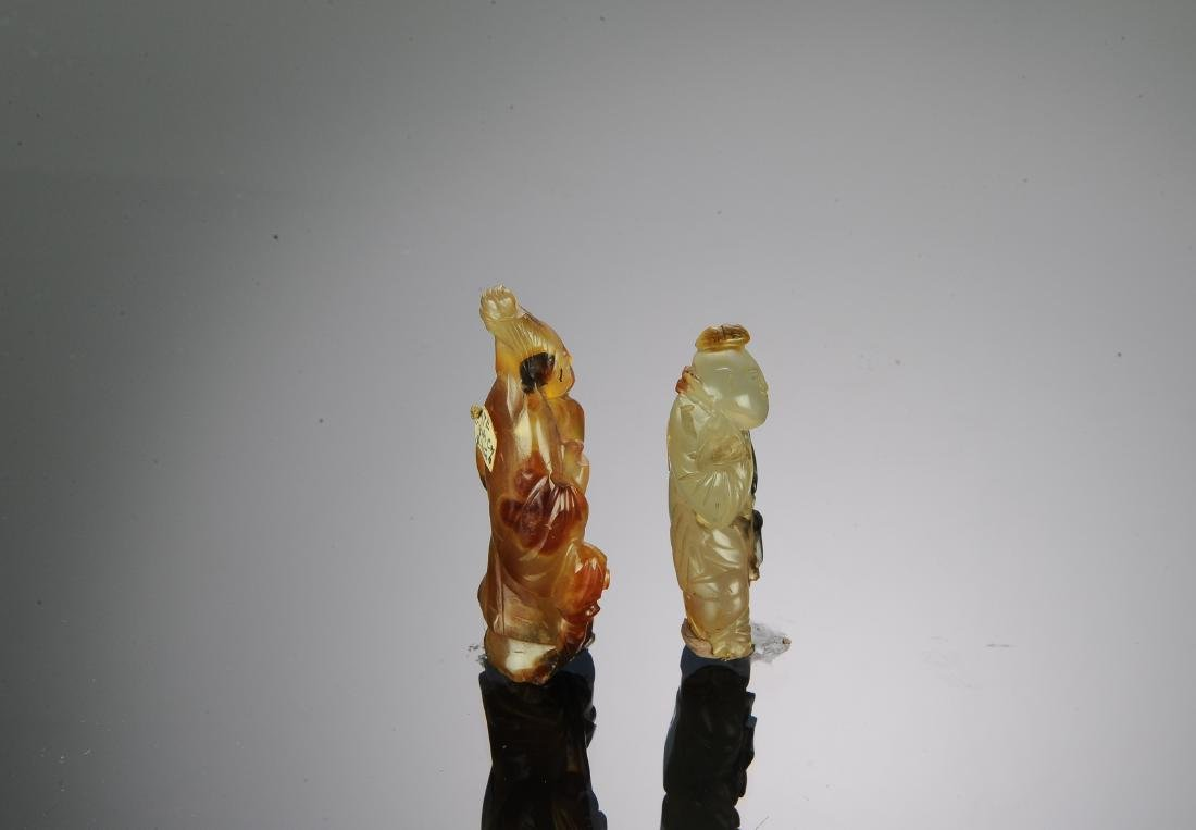 Two Chinese Agate Carvings, 17th-18th Century - 4
