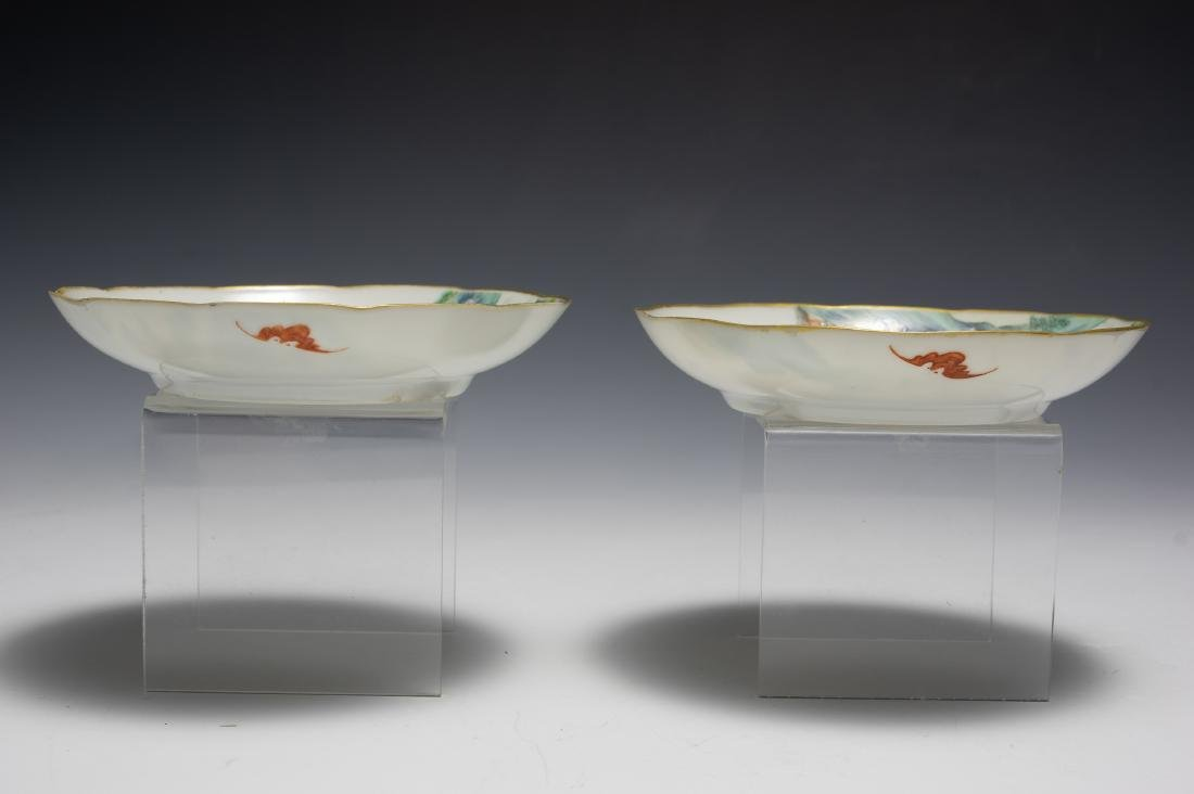 Set of 4 Small Chinese Plates, Early 19th Century - 7