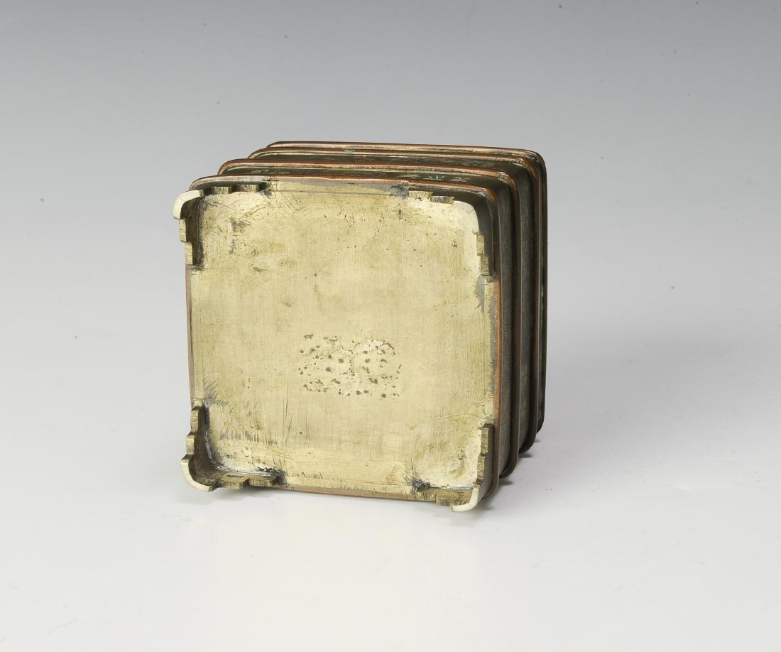Set of 2 Bronze Incense Burners, 19th Century - 6