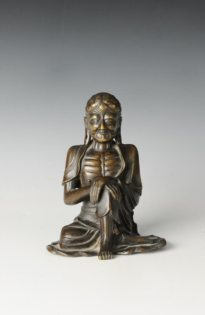 Bronze Luohan Figure, 16th-17th Century