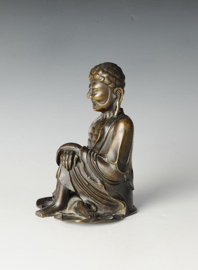 Bronze Luohan Figure, 16th-17th Century - 4