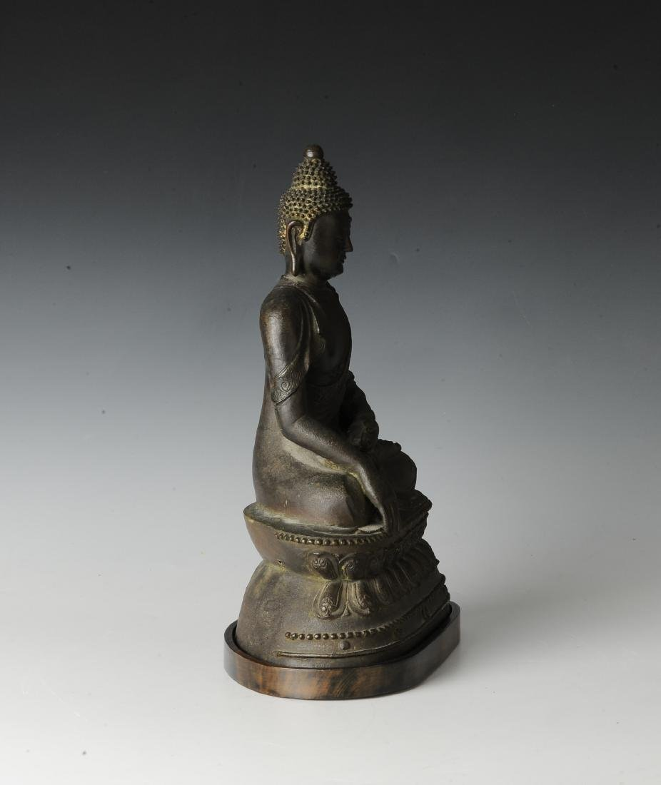 Chinese Seated Bronze Buddha, Ming Dynasty - 2