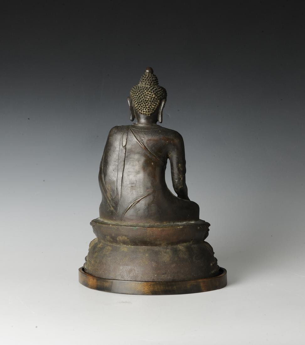 Chinese Seated Bronze Buddha, Ming Dynasty - 3
