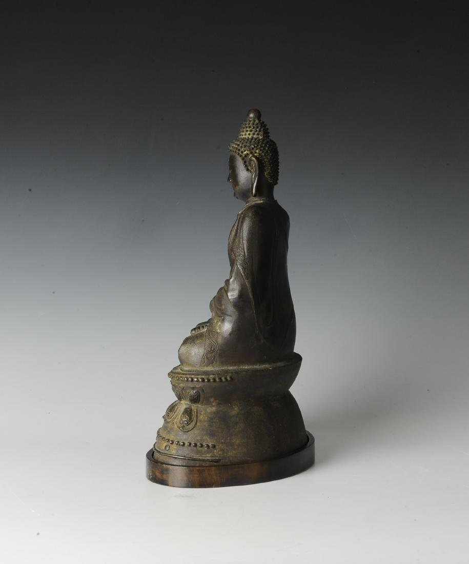 Chinese Seated Bronze Buddha, Ming Dynasty - 4