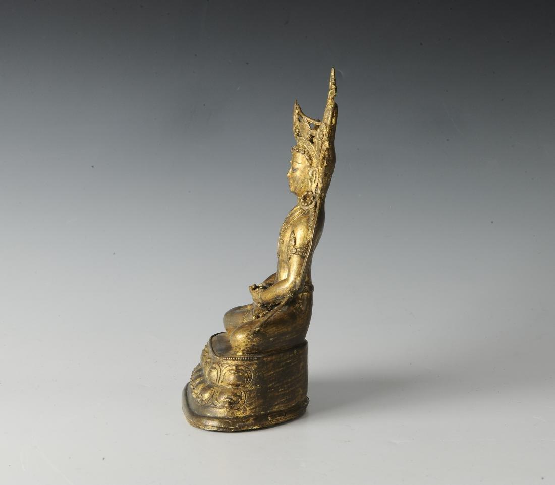 Gilt Bronze Buddha, 18th Century - 2
