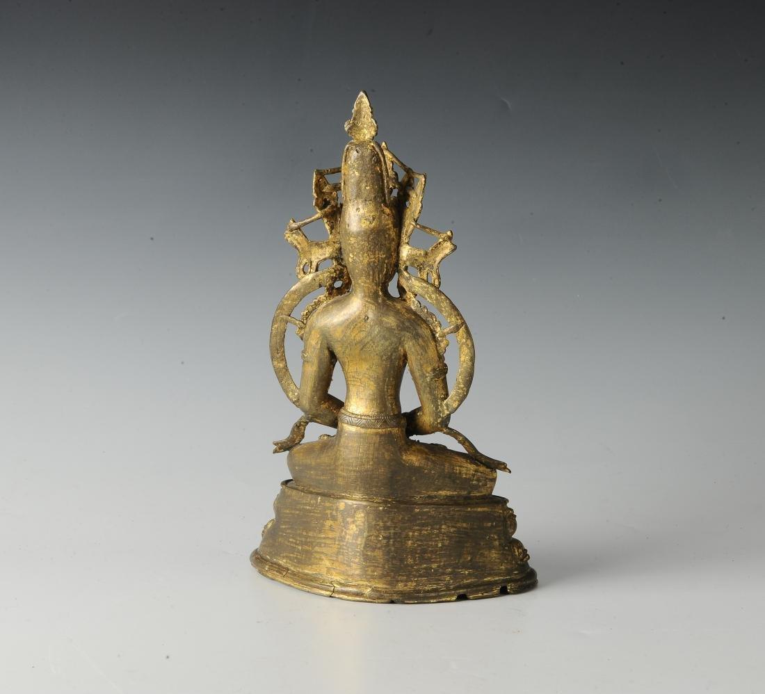 Gilt Bronze Buddha, 18th Century - 3