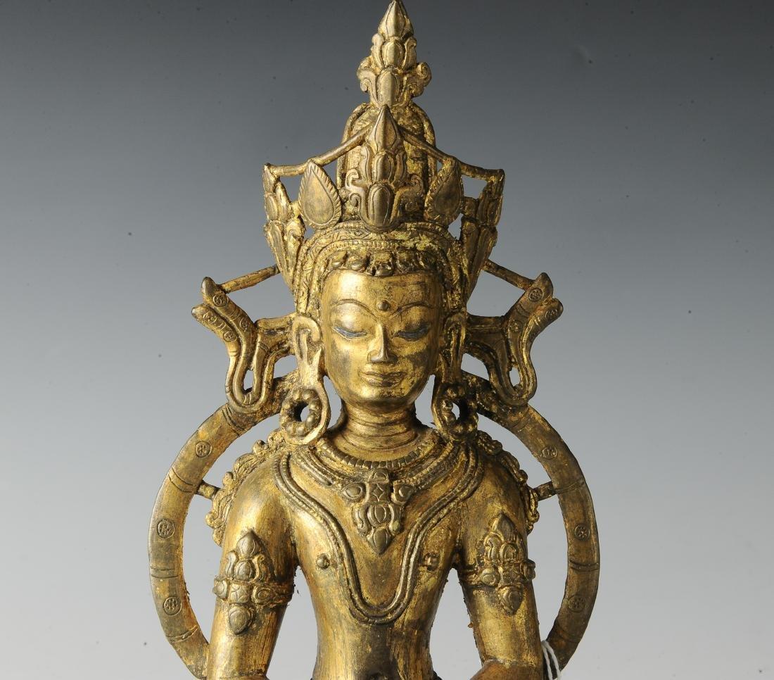 Gilt Bronze Buddha, 18th Century - 6