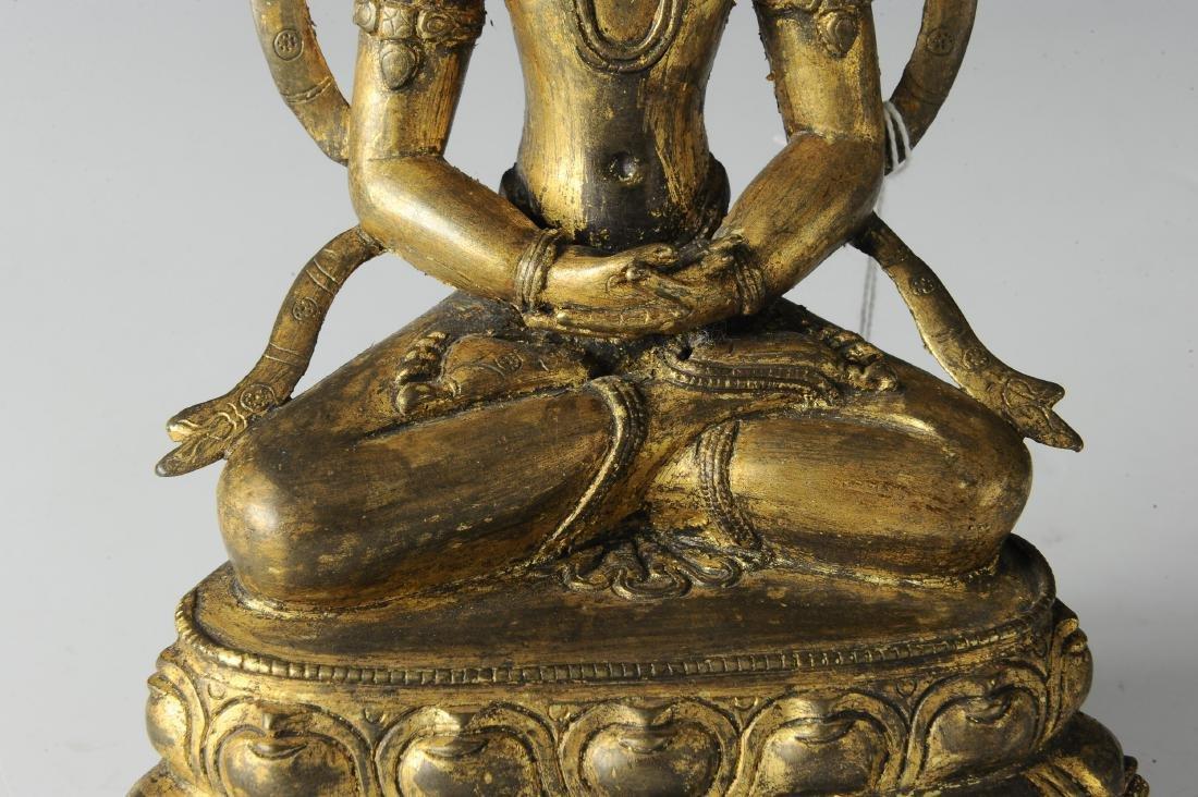 Gilt Bronze Buddha, 18th Century - 8