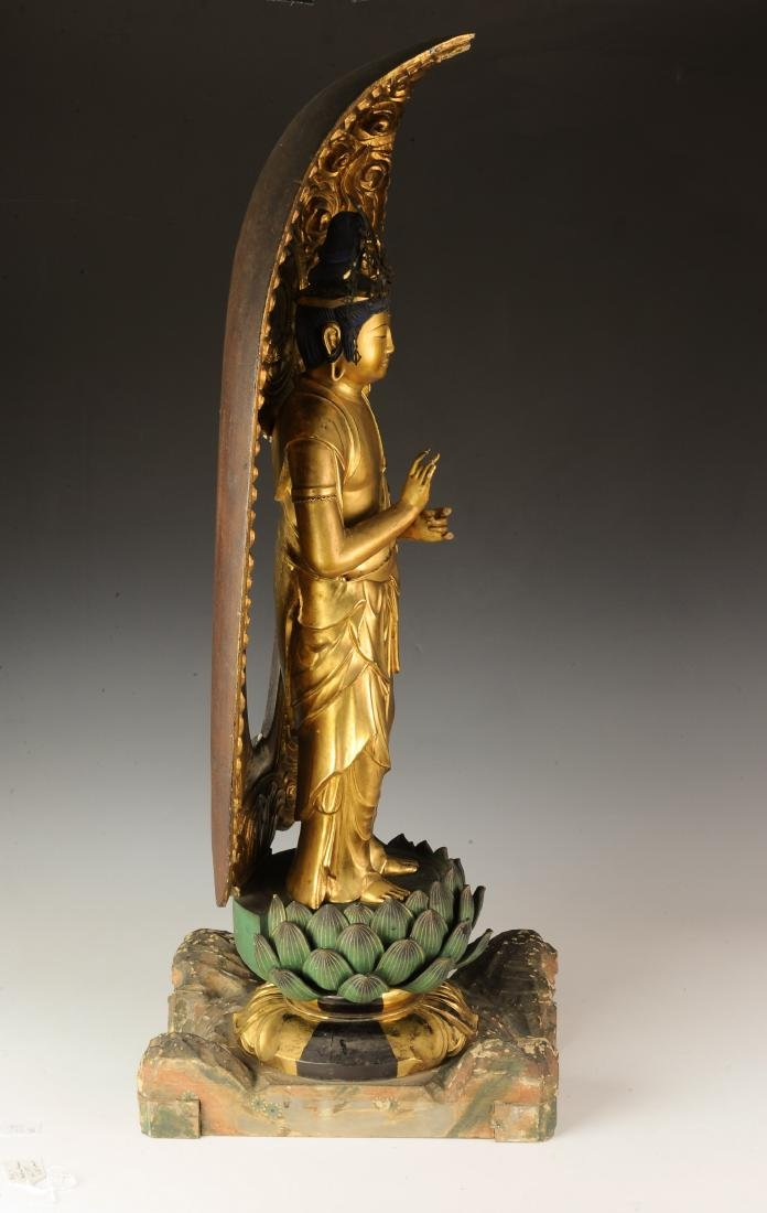 Gilt Wood Japanese Guanyin, 18th-19th Century - 5