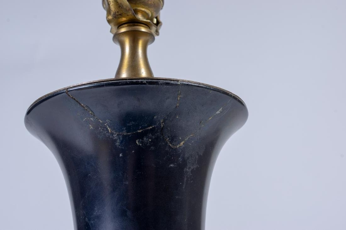 Black Lacquer Vase/Lamp, 18th Century - 7