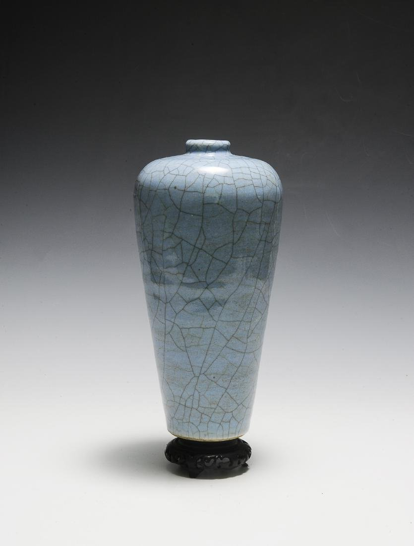 Chinese Pale Blue Ge Glaze Meiping, 18th-19th Century