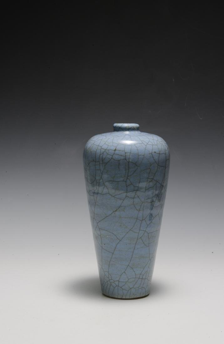 Chinese Pale Blue Ge Glaze Meiping, 18th-19th Century - 2