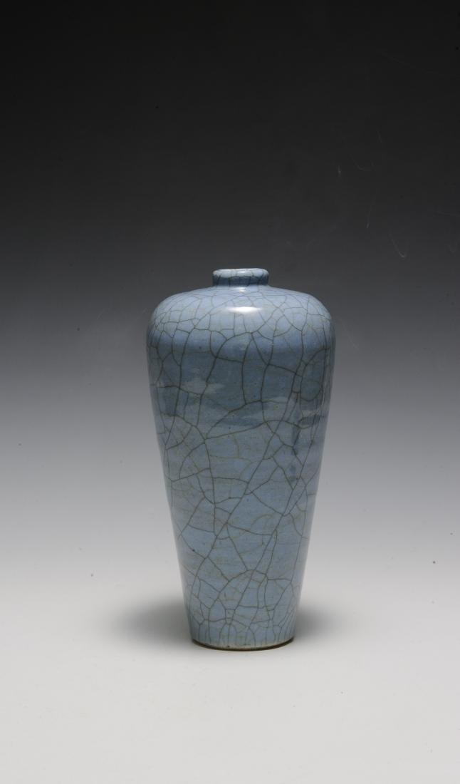 Chinese Pale Blue Ge Glaze Meiping, 18th-19th Century - 3