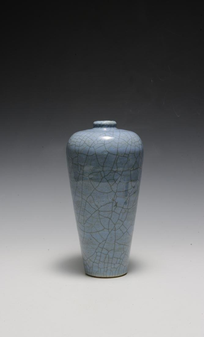 Chinese Pale Blue Ge Glaze Meiping, 18th-19th Century - 4