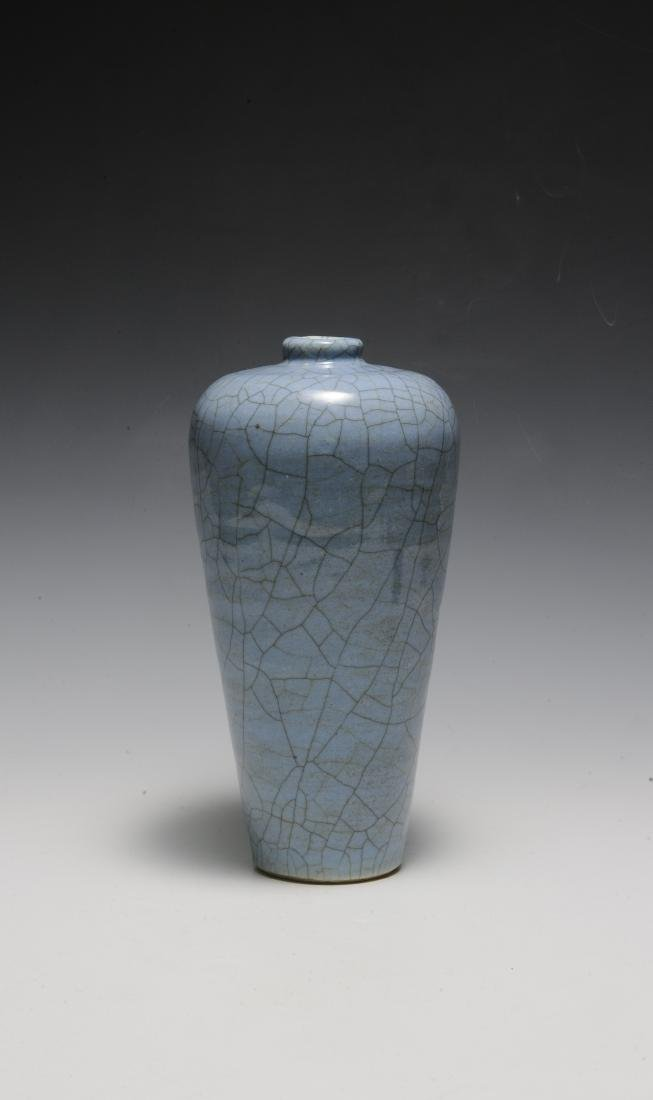 Chinese Pale Blue Ge Glaze Meiping, 18th-19th Century - 5