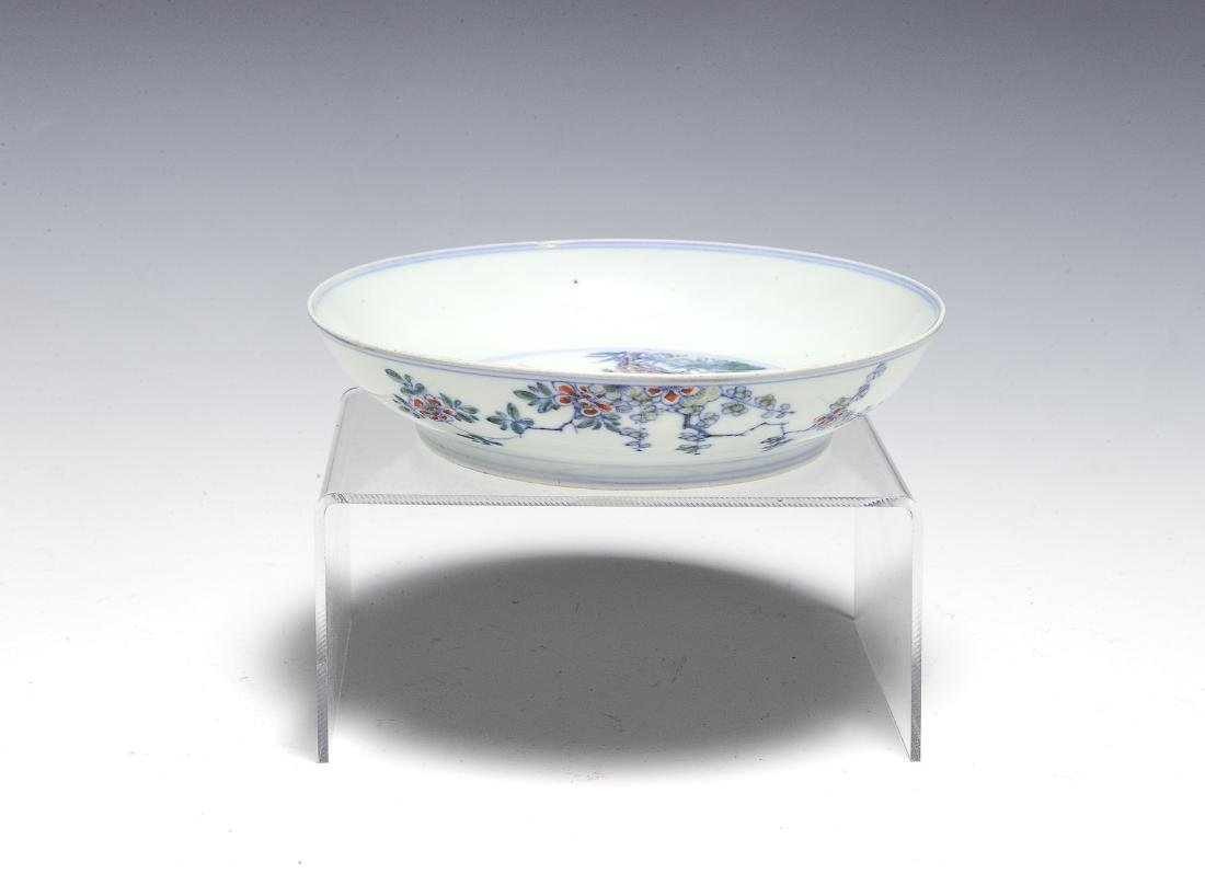 Imperial Chinese Doucai Dish, Kangxi Mark & Period - 2