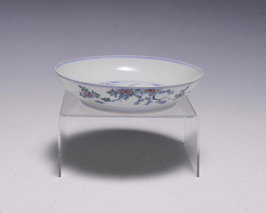 Imperial Chinese Doucai Dish, Kangxi Mark & Period - 4