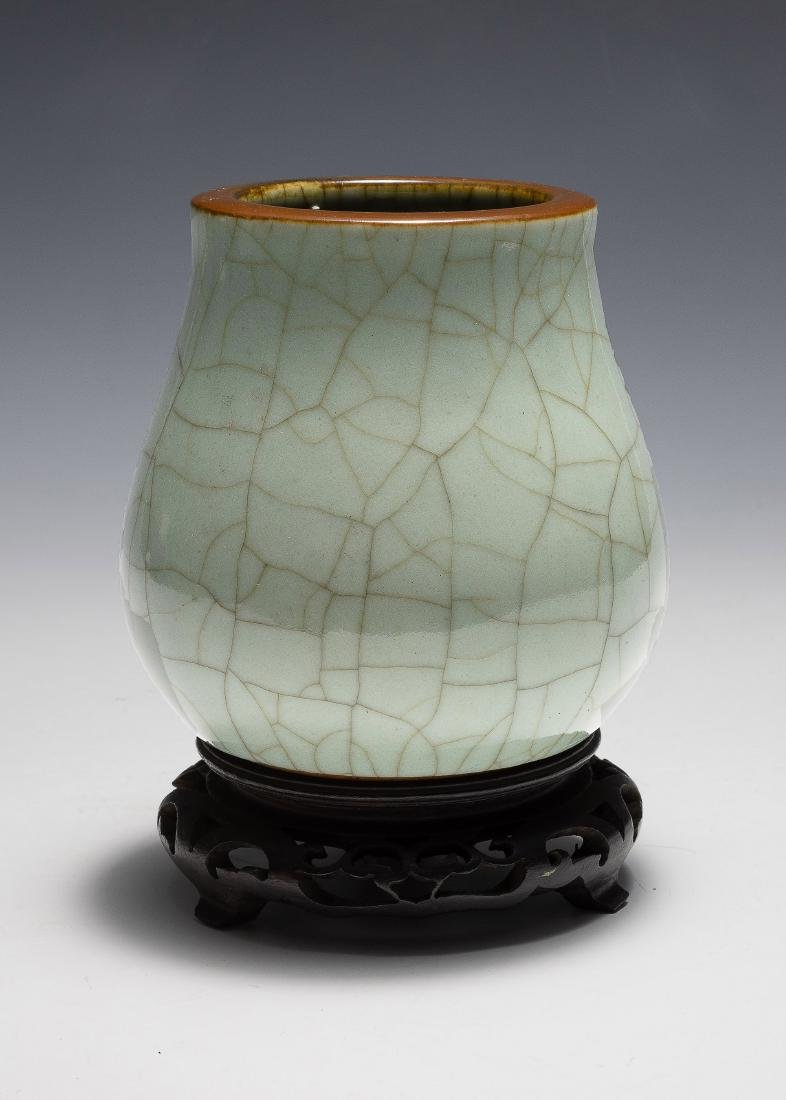 Chinese Green Ge Glazed Vase, 18th Century