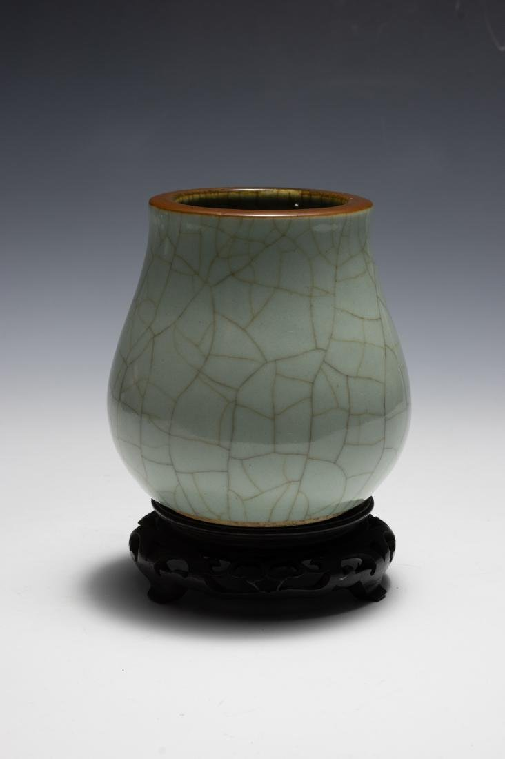 Chinese Green Ge Glazed Vase, 18th Century - 4