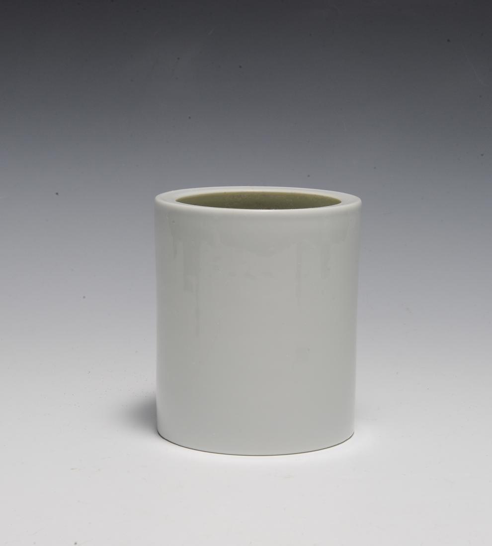Wang Bu Style Blue & White Brush Pot, Republic - 3