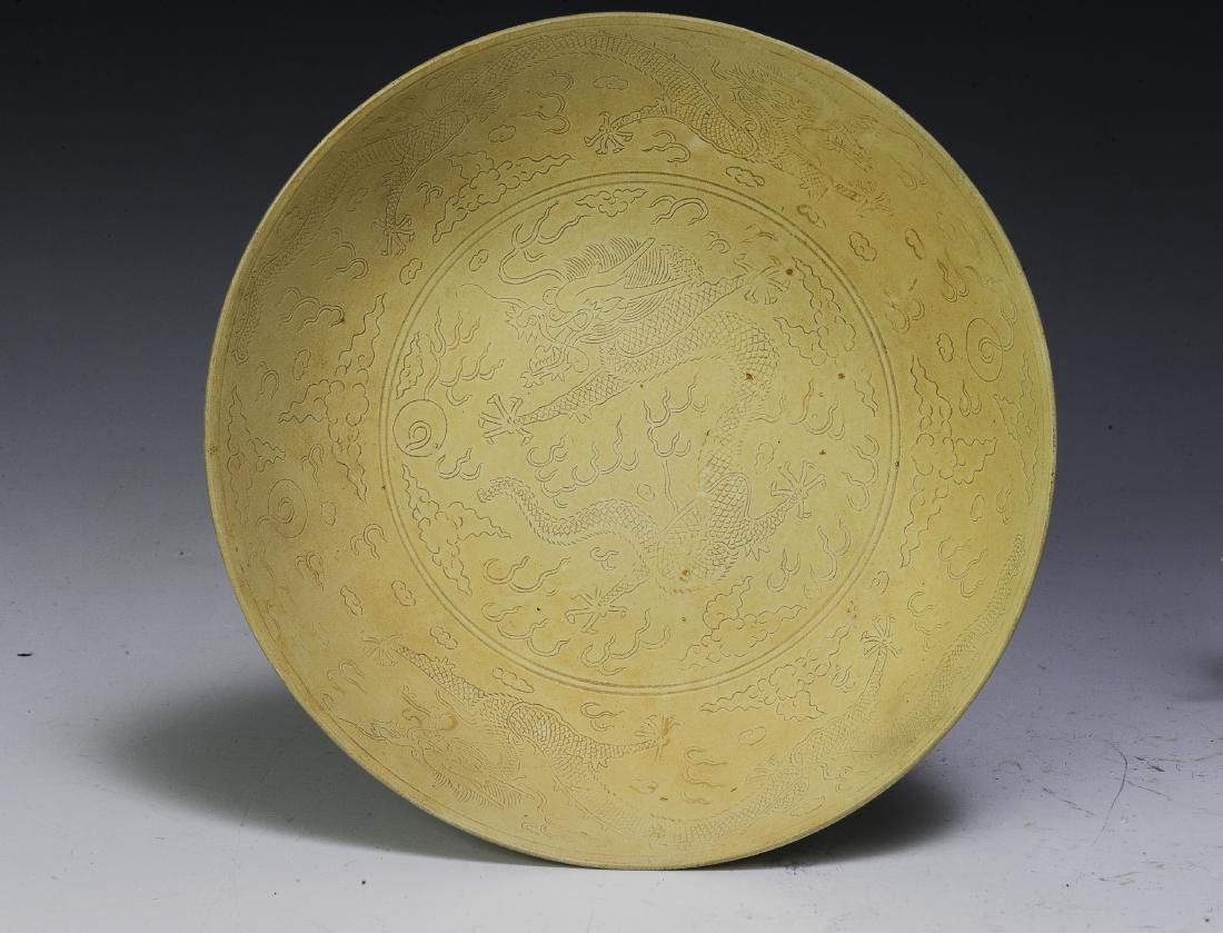 Pair of Imperial Chinese Unglazed Plates, Guangxu - 5