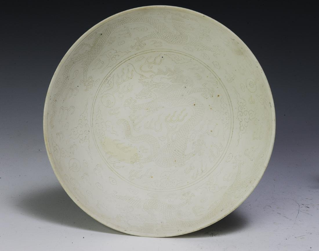 Pair of Imperial Chinese Unglazed Plates, Guangxu - 6