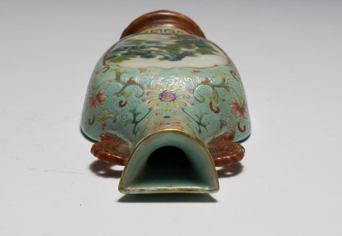 Chinese Famille Rose Porcelain Wall Vase, Qianlong - 5