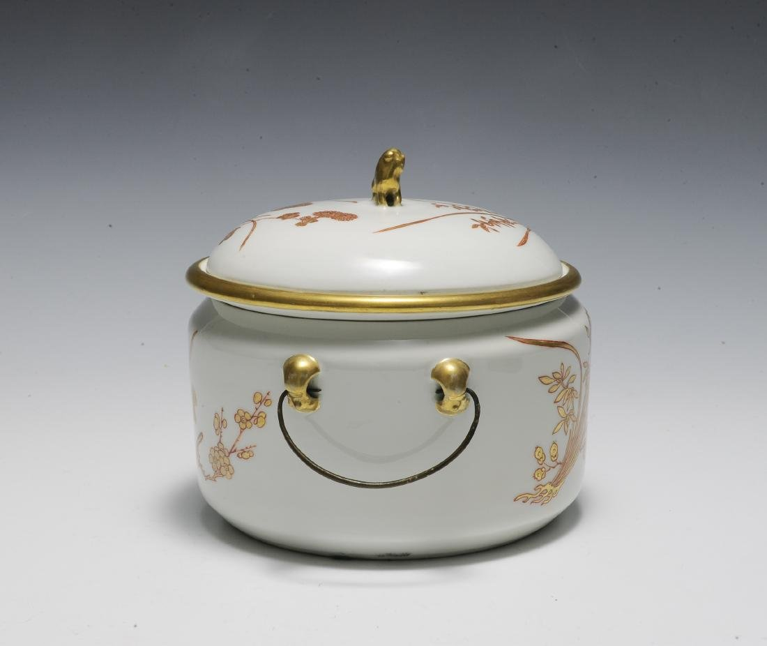 Chinese 3 Piece Porcelain Food Warmer, Xianfeng - 2