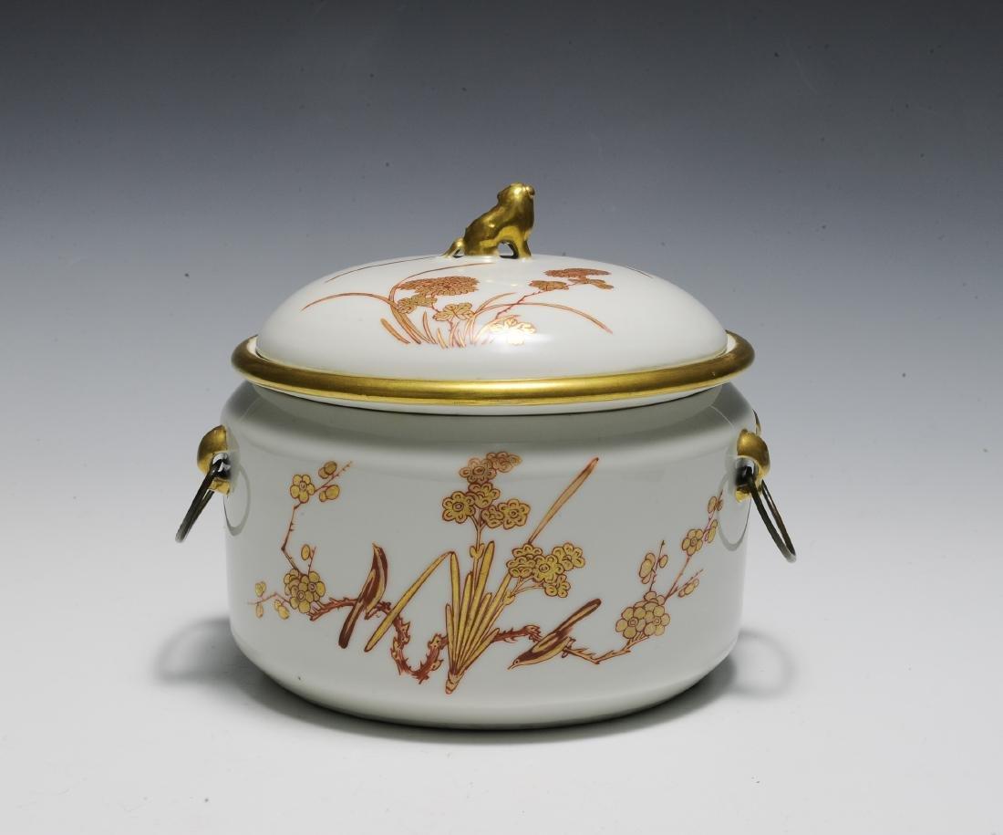 Chinese 3 Piece Porcelain Food Warmer, Xianfeng - 3