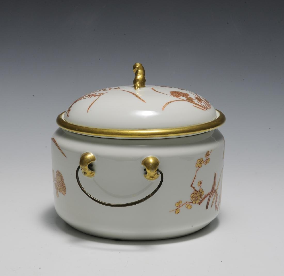 Chinese 3 Piece Porcelain Food Warmer, Xianfeng - 4